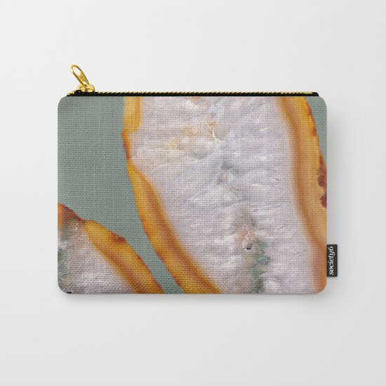 Agate Translucent #Yellow #Orange #2 #decor #art #society6 Carry-All Pouch
