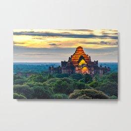 Sunrise Bagan Temple 2 Metal Print