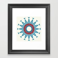 Red Fish, Blue Fish in a Ring Framed Art Print