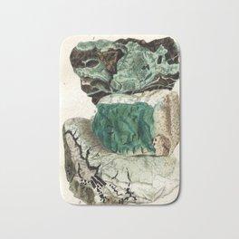 Vintage Mineralogy Illustration Bath Mat