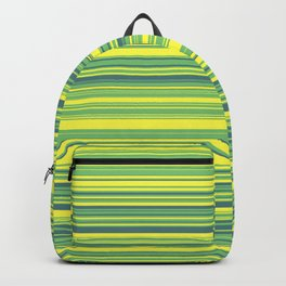 Yellow Lime Candy Lines Backpack