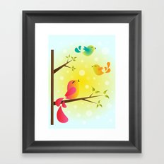 Fly High, My Babies! Framed Art Print