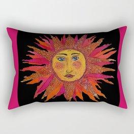 Decoupage Sun Rectangular Pillow