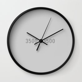 3000x2400 Placeholder Image Artwork (Grey) Wall Clock