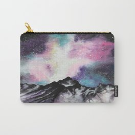 """""""Starruption"""" Watercolor Mountain Scene Carry-All Pouch"""