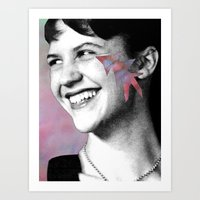 sylvia plath Art Prints featuring Sylvia Plath by Grace