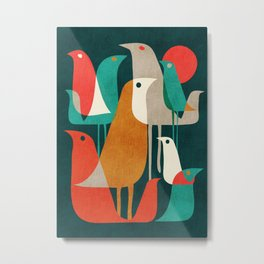 Flock of Birds Metal Print