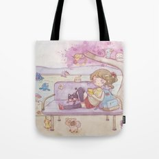 Monsters in the park Tote Bag