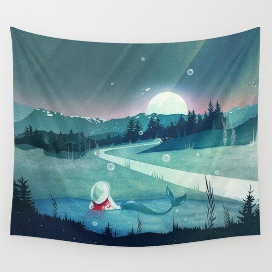 A Mermaid's Dream Wall Tapestry