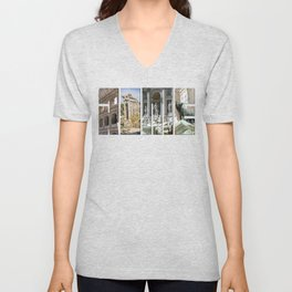 The monuments of Rome Unisex V-Neck