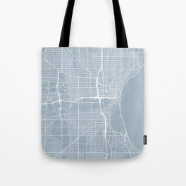 Milwaukee Map, USA - Slate Tote Bag