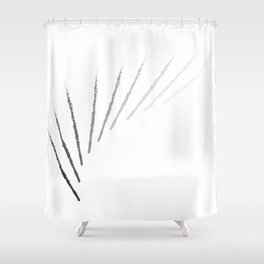 Charcoal Feathers Shower Curtain