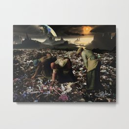 The Gleaners (after Millet), 2014 Metal Print