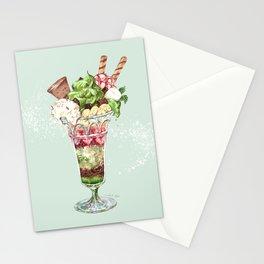 Greentea Parfait Stationery Cards
