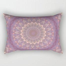 PURPLE BUTTERFLIES MANDALA Rectangular Pillow