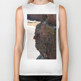 Face in the Cliff Biker Tank