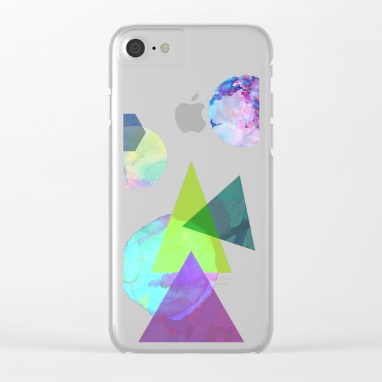 Abstract 5 Clear iPhone Case