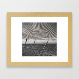 Before the storm - sunset graphic Framed Art Print