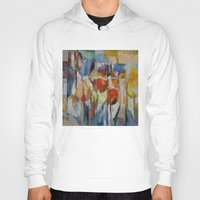 tulips Hoodies featuring Tulips by Michael Creese
