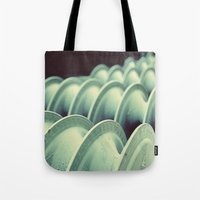 industrial Tote Bags featuring industrial by HD Connelly