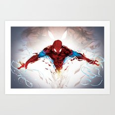 Torn Suit  Art Print
