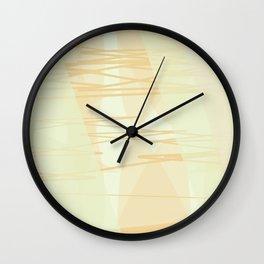 Beige Pattern Wall Clock
