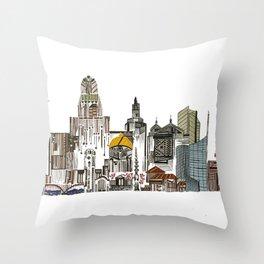 Queen City, Buffalo NY Throw Pillow