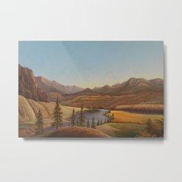 African American Masterpiece View of Lake Okanagan, British Columbia by Grafton Tyler Brown Metal Print