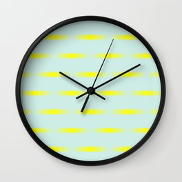 Mint and yellow Wall Clock