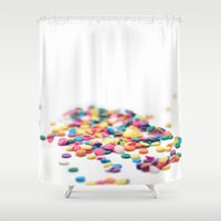 sprinkles Shower Curtains featuring Sprinkles by Dena Brender Photography