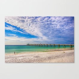 Island Beach Walk Canvas Print