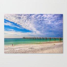 Island Beach Walk Canvas Print