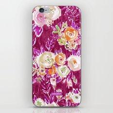 PROFUSION FLORAL - MERLOT iPhone & iPod Skin