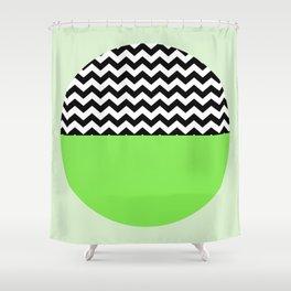 Moiety Green Shower Curtain