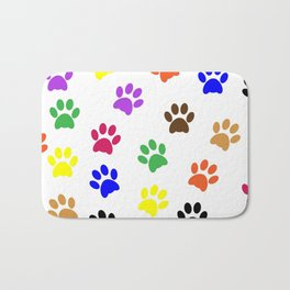 Paw print design Bath Mat