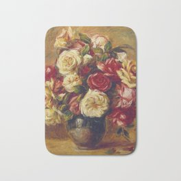 Auguste Renoir - Bouquet Of Roses  1909 Bath Mat