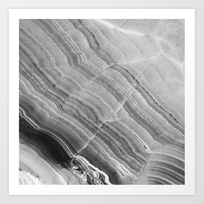 Sunday's Society6 | Shades of grey marble art print