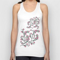 cherry blossoms Tank Tops featuring Cherry Blossoms by famenxt