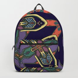 Gothic Revival Reimagined in Purple Backpack