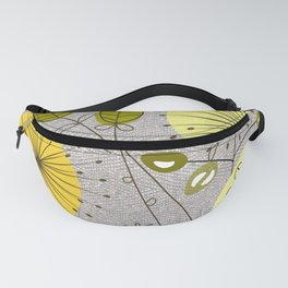 Mid-Century Modern Floral Fanny Pack