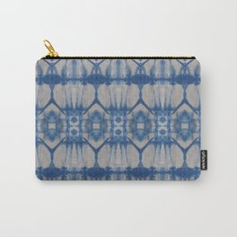 Natural Shibori Flowers Carry-All Pouch