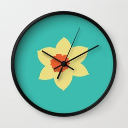 Daffodil Head Wall Clock