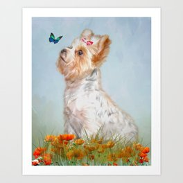 Jazzy and Miss Butterfly Art Print