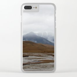 Misty Snows Clear iPhone Case