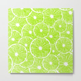 Lime slices pattern Metal Print