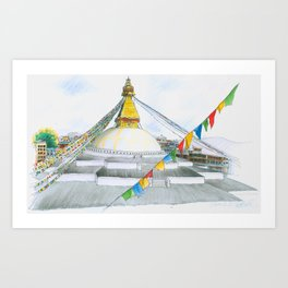 Boudha,Kathmandu Art Print