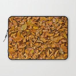 Dark yellow autumn leaves Laptop Sleeve