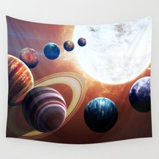 Planets Road Trip Wall Tapestry