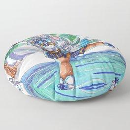 Miku on Ice Floor Pillow