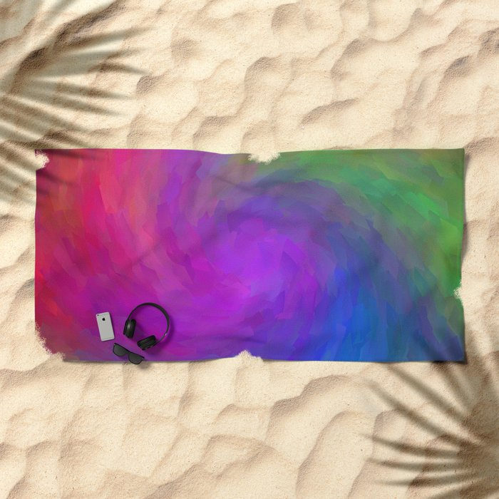 Twister Of Color Beach Towel